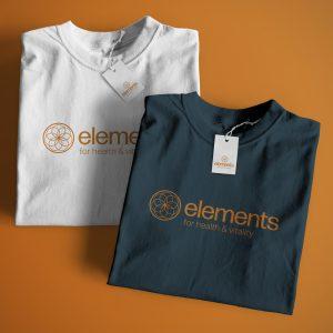 Elements T-Shirts Blue & White